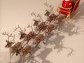 Toon Santa in Sleigh with Reindeer