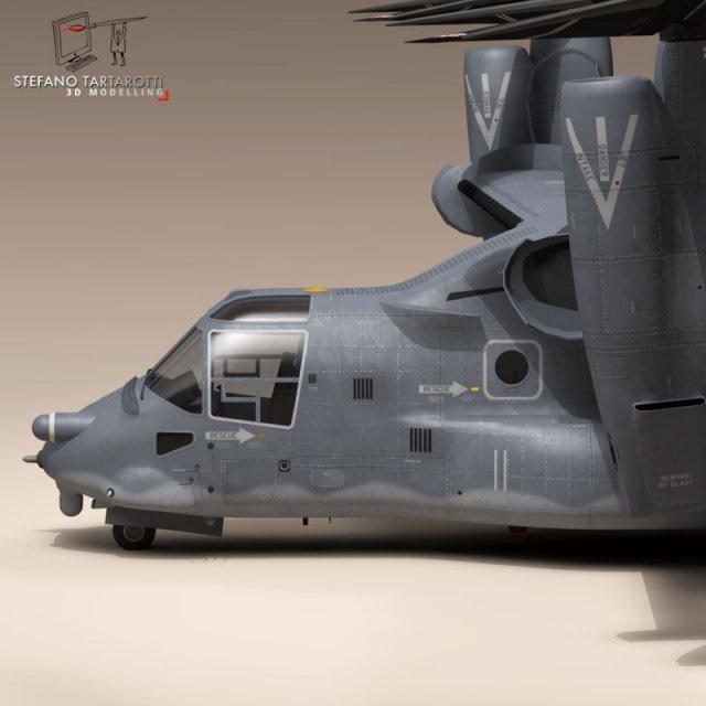 3D Models V22 Osprey USAF 3D Model