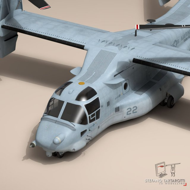 3D Models V22 Osprey US Marines 3D Model