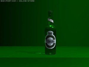 Bottle of tuborg green