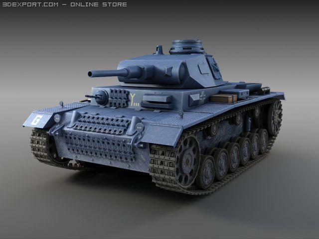 Panzer III Ausf F 3D Model