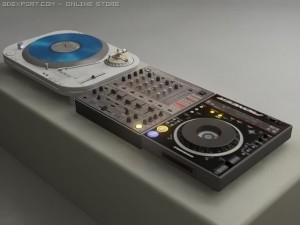 Vinyl  Cd turntable  mixer