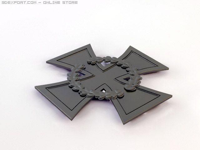 simple german cross of honor 3D Model