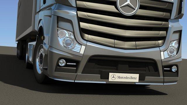 2012 MercedesBenz Actros with Trailer 3D Model