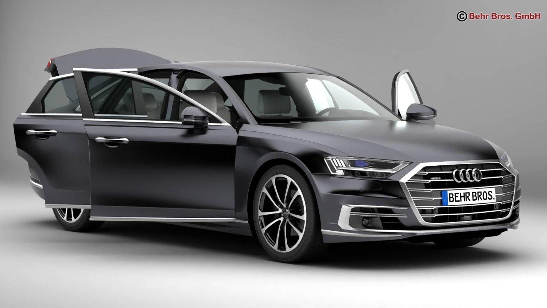 Audi A D Model In Sedan DExport - Audi a8 2018