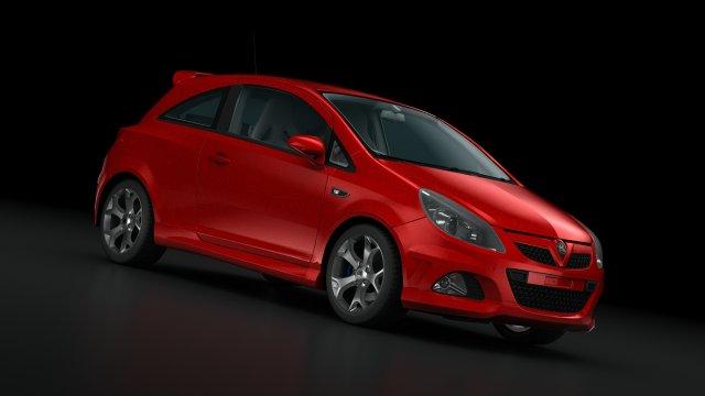 Opel Vauxhall Corsa VXR 2009 3D Model