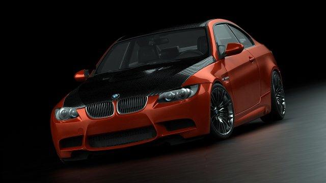 BMW M3E92 08 3D Model