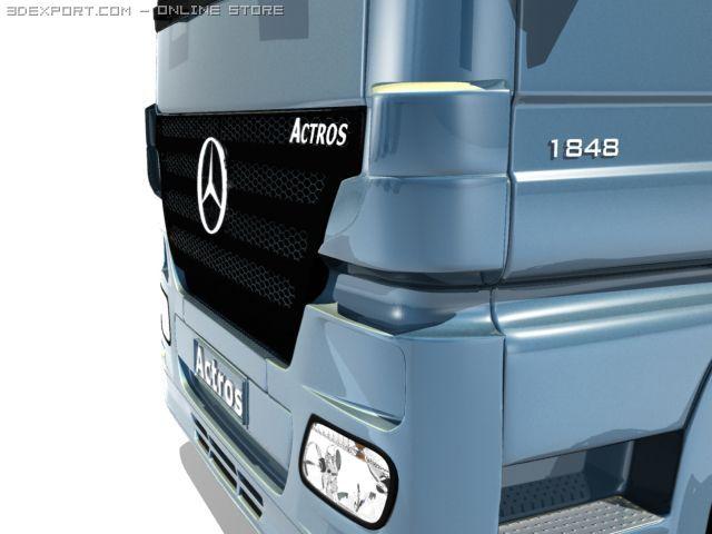 Mercedes Actros Detailed 3D Model
