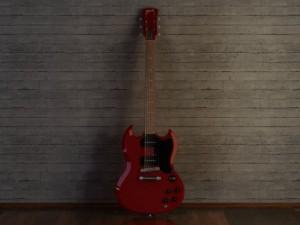 Gibson sg style guitar