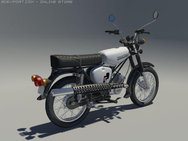 simson s51 3d model in motorcycle 3dexport