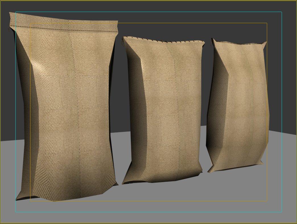 Flour Sack Bag 3D Model in Other 3DExport