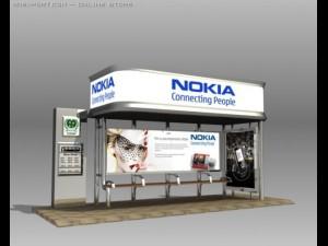 Bus Stop Shelter Nokia Brand