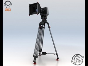 Blackmagic Camera With Tripod