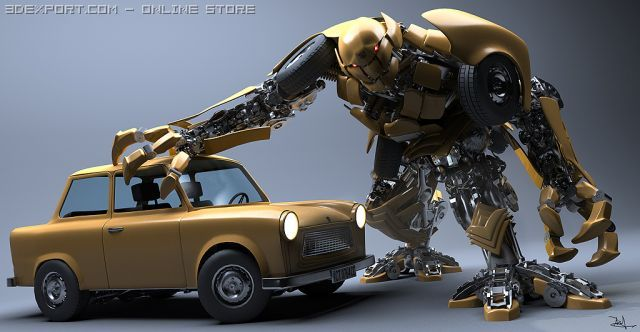 Robot Decepticon 3D Model
