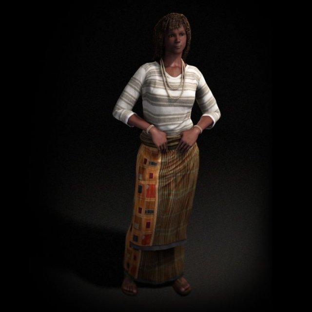 Female 02 3dpeople vol 02 3D Model