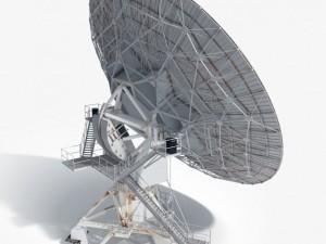 VLA Radio Telescope textured