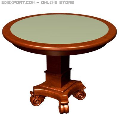 Round Card Table 3D Model