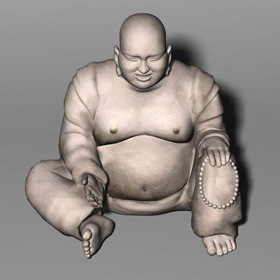 Laughing Buddha 3D Model