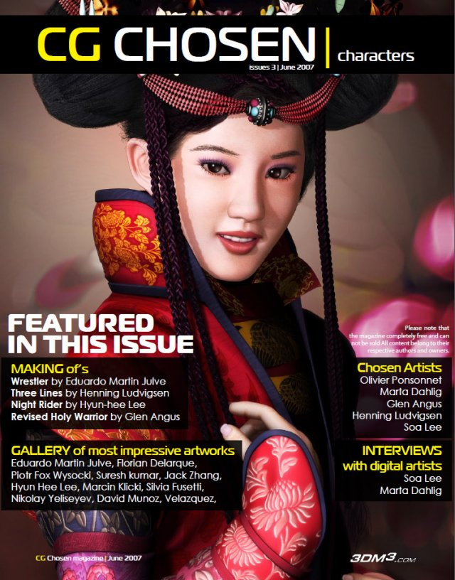 CG Chosen Characters magazine No3