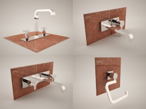 20 bathroom 3d models  Grohe Allure Collection