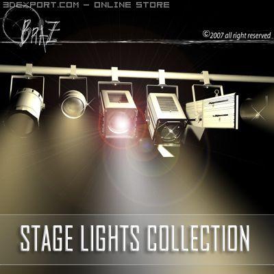 Stage lights   set 3D Model