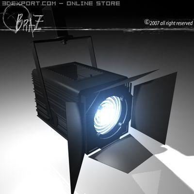 Stage light   Fresnel 3D Model