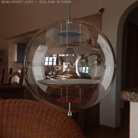 VP Globe Lamp 3D Model