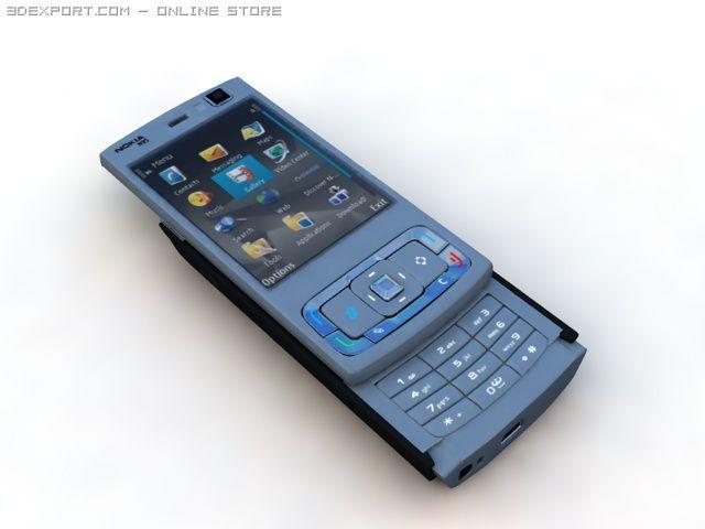 Und Telefon In Nokia 3d-modell 3dexport N95 Handy