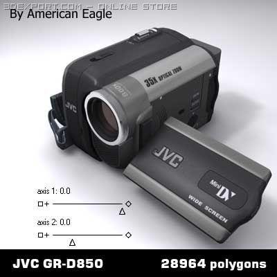 Jvc dv cam GR D850 3D Model