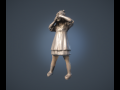 Girl Statue lowpoly