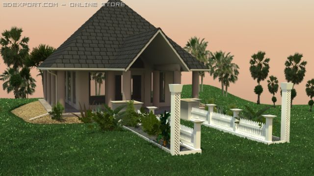 Small Wedding Chapel 3D Model
