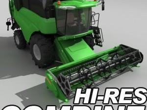 Hires combine harvester