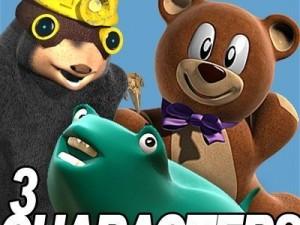 3 Cartoon characters bundle