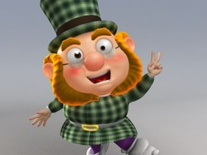 Cartoon Dwarf  Leprechaun rig