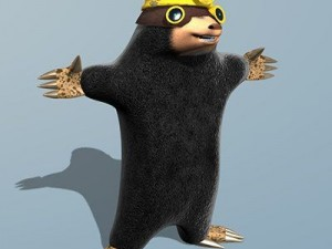 Mole cartoon character