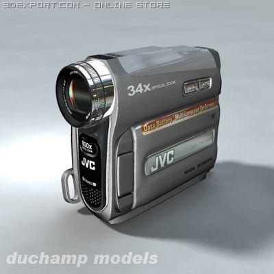 JVC camcorder 3D Model