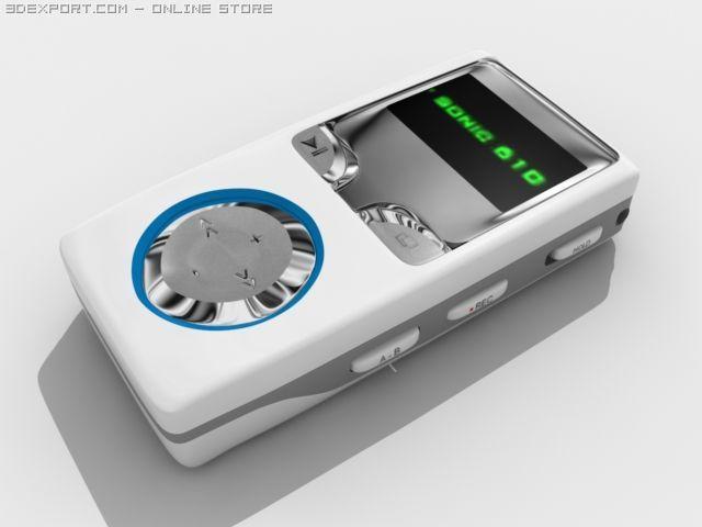 T sonic 610 mp3 player 3D Model in Audio 3DExport