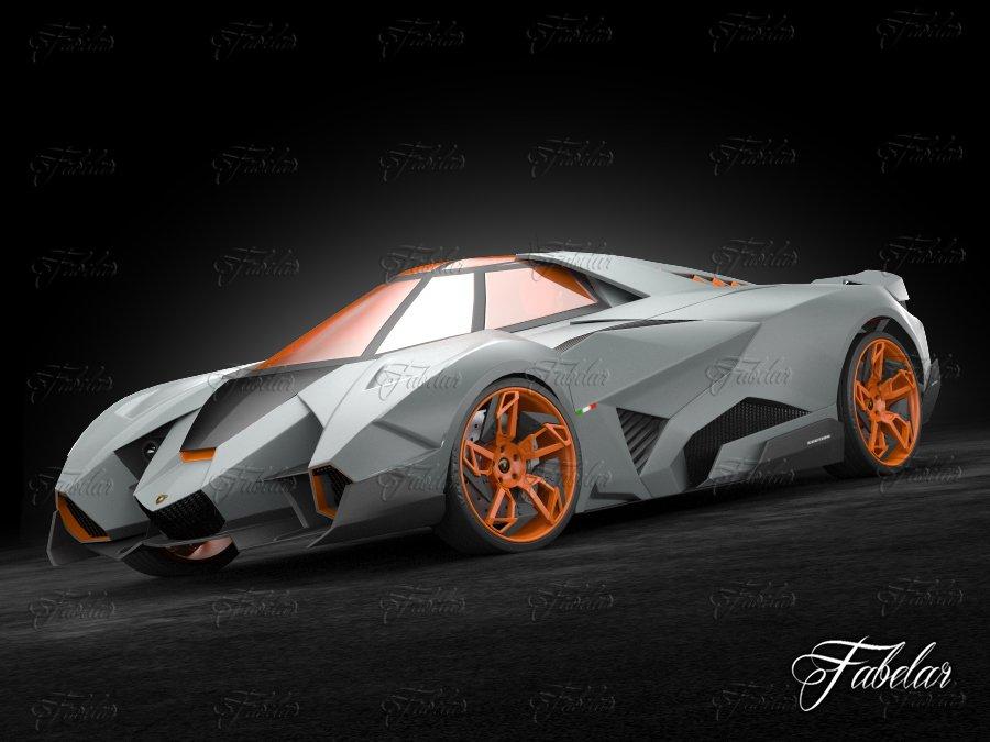 Lamborghini Egoista 3d Model In Concept 3dexport