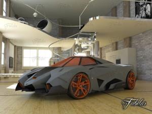 Lamborghini Egoista Environment