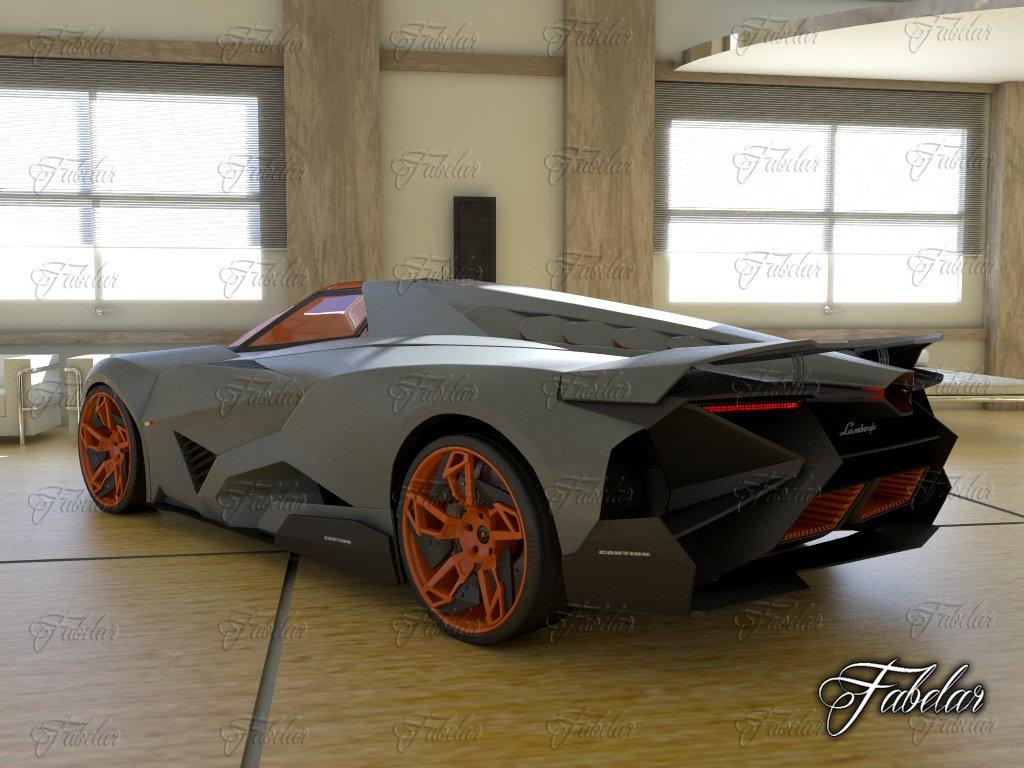 Lamborghini Egoista Environment 3d Model In Concept 3dexport