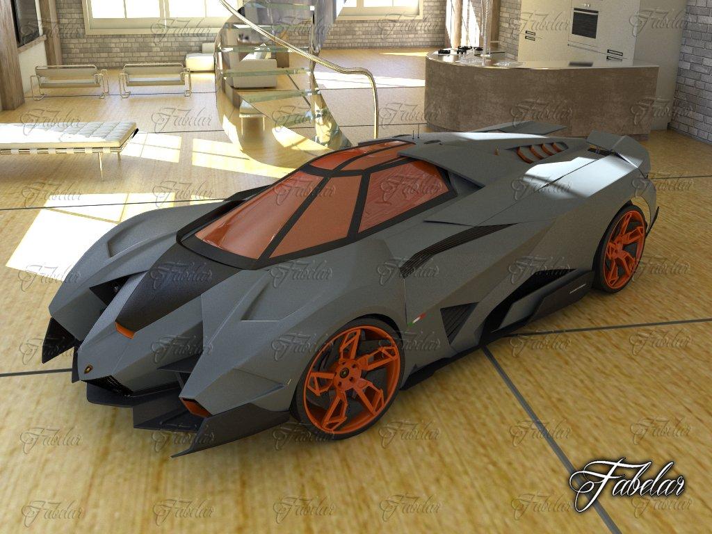 Lamborghini Egoista Environment Model 3d In Concept 3dexport