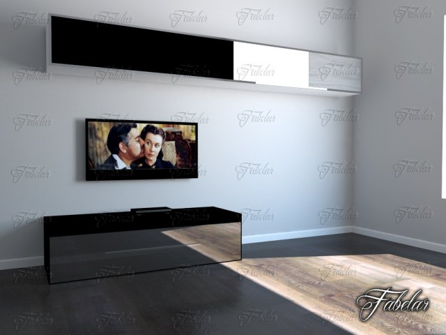 TV cabinet 05 3D Model