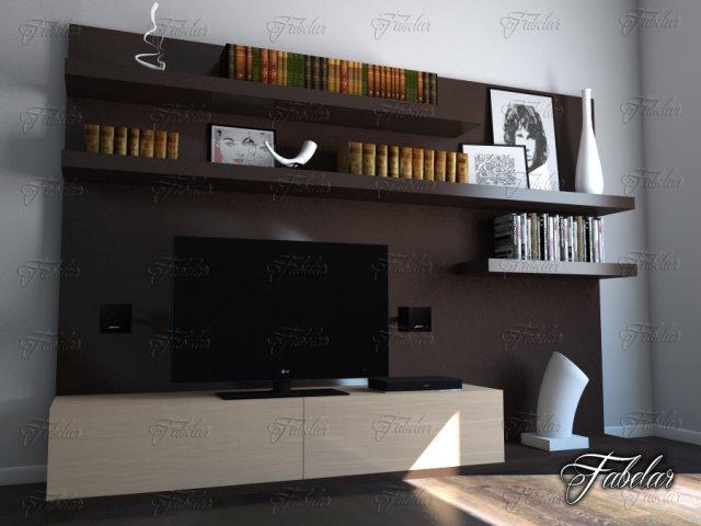 TV cabinet 09 3D Model