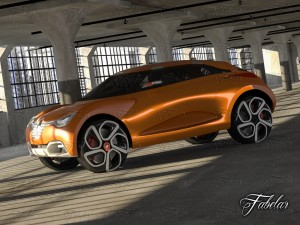 Renault Captur concept garage