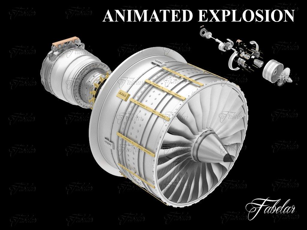 Jet engine Free 3D Model in Parts 3DExport