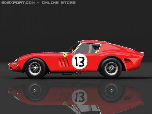 Ferrari 250 gto 1963 STD Mat 3D Model