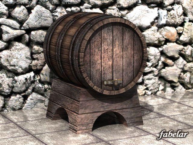 Wine Barrel 3d Model In Parts 3dexport