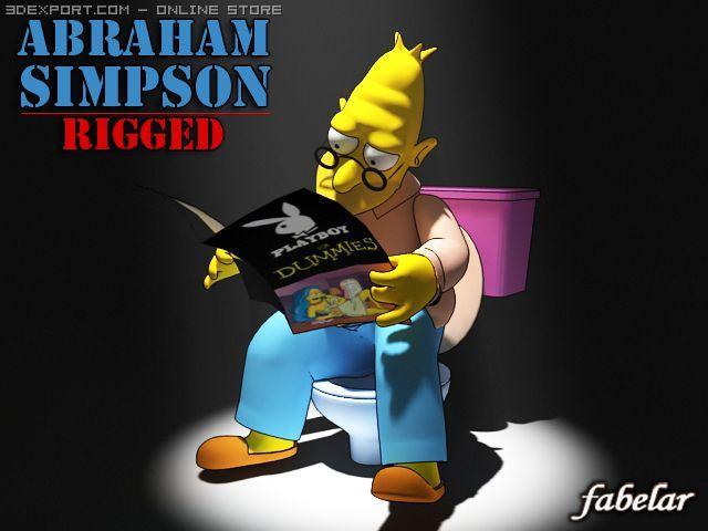 Abraham Simpson rigged 3D Model
