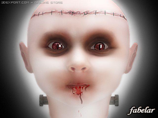 Baby Frankenstein 3D Model