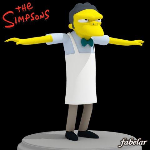 Moe Szyslak 3D Model